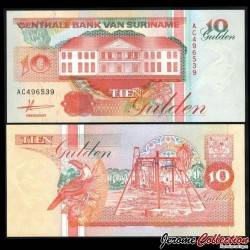 SURINAME - Billet de 10 Gulden - 09.07.1991