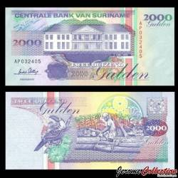 SURINAME - Billet de 2000 Gulden - 01.06.1995