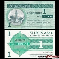 SURINAME - Billet de 1 Dollar - Cour Suprême - 01.01.2004