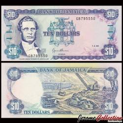 JAMAIQUE - Billet de 10 DOLLARS - George William Gordon - 1.3.1994