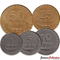 TIMOR ORIENTAL - SET / LOT de 5 PIECES - 1 5 10 25 50 Centavos - 2003 2011