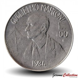 SAINT-MARIN - PIECE de 100 Lire - Guglielmo Marconi - 1984