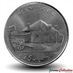 CANADA - PIECE de 25 Cents - Manitoba - 1992 Km#214