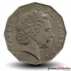 AUSTRALIE - PIECE de 50 Cents - Armoiries de l'Australie  - 2010
