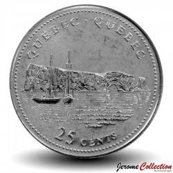 CANADA - PIECE de 25 Cents - Quebec - 1992
