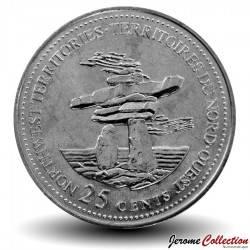 CANADA - PIECE de 25 Cents - Territoires du Nord-Ouest - 1992