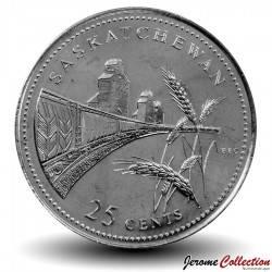 CANADA - PIECE de 25 Cents - Saskatchewan - 1992