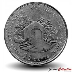 CANADA - PIECE de 25 Cents - Nouveau-Brunswick - 1992