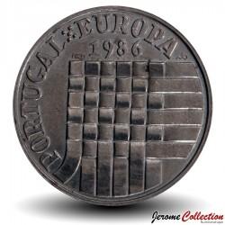 PORTUGAL - PIECE de 25 Escudos - Adhésion a la CEE - 1986 Km#635