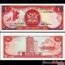 TRINITÉ-ET-TOBAGO - Billet de 1 DOLLAR - Oiseau Ibis rouge - 1985
