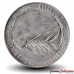 SAINT-MARIN - PIECE de 100 Lires - Squelette de poisson - 1977 Km#70
