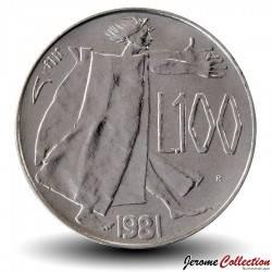 SAINT-MARIN - PIECE de 100 Lire - 1981