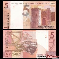 BIÉLORUSSIE - Billet de 5 Roubles - 2009 / 2016 P37a