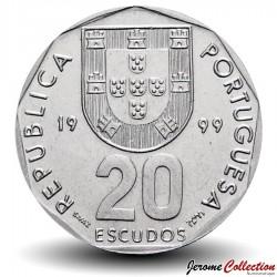 PORTUGAL - PIECE de 20 Escudos - Un compas - 1999