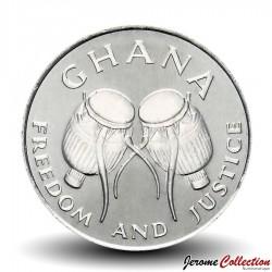 GHANA - PIECE de 50 cedis - Tambours africains - 1999 Km#31a