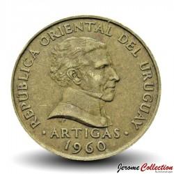 URUGUAY - PIECE de 5 Centesimos - Général José Gervasio Artigas - 1960 Km#38