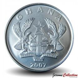 GHANA - PIECE de 50 Pesewas - Jeune Femme - 2007