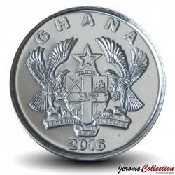 GHANA - PIECE de 5 Pesewas - Joueur de corne - 2016