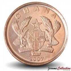 GHANA - PIECE de 1 Pesewa - Pont - 2007