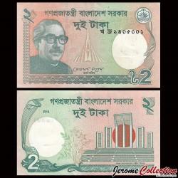 BANGLADESH - Billet de 2 Taka - 2012