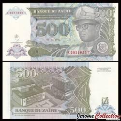 ZAIRE - Billet de 500 Nouveaux Zaïre - 15.2.1994 P63a