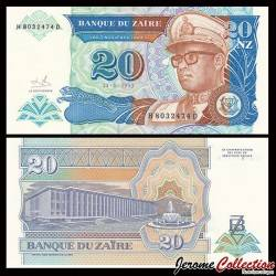 ZAIRE - Billet de 20 Nouveaux Zaïre - 24.6.1993 P56a