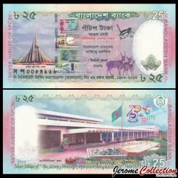 BANGLADESH - Billet de 25 Taka - 2013
