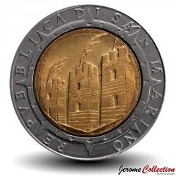 SAINT-MARIN - PIECE de 500 Lires - Découverte de l'Amérique - 1992
