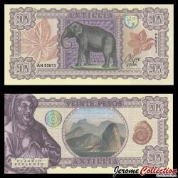 ANTILLIA - Billet de 20 PESOS - 2017 - ELEPHANT - Claude Ptolémée 0020