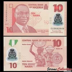 NIGERIA - Billet de 10 Naira - Polymer - 2019