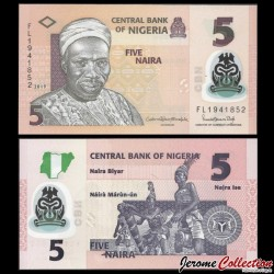 NIGERIA - Billet de 5 Naira - Polymer - 2019