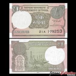 INDE - Billet de 1 Roupie - 2017 P107c - L