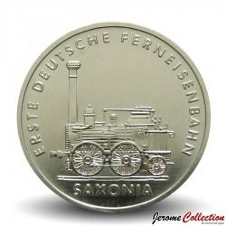 ALLEMAGNE DE L'EST / DDR / RDA - PIECE de 5 Marks - 150 ans des chemins de fer allemands - 1988