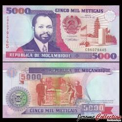 MOZAMBIQUE - Billet de 5000 Meticais - 1991