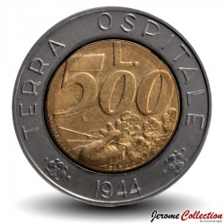 SAINT-MARIN - PIECE de 500 Lire - Terra Ospitale - 1991