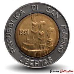 SAINT-MARIN - PIECE de 500 Lires - Terra Ospitale - 1991