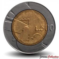 SAINT-MARIN - PIECE de 500 Lire - 1600 ans d'histoire - 1990