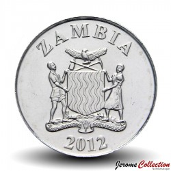 ZAMBIE - PIECE de 5 Ngwee - Combassou de Codrington - 2012