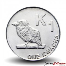ZAMBIE - PIECE de 1 Kwacha- Un barbican de Chaplin - 2012 Km#209