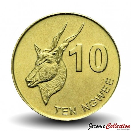 ZAMBIE - PIECE de 10 Ngwee - Un éland - 2012 Km#206