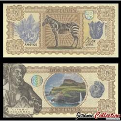 ANTILLIA - Billet de 2 PESOS - 2017 - ZEBRE - Claude Ptolémée 0002