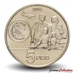 PHILIPPINES - PIECE de 5 Piso - Travailleur d'outre-mer - 2014 Km#286
