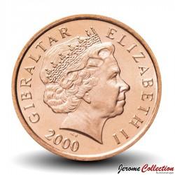 GIBRALTAR - PIECE de 2 Pence - Phare de Gibraltar - 2000