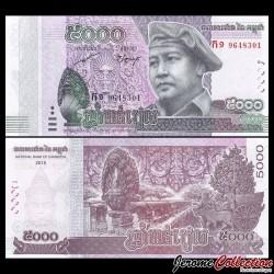 CAMBODGE - Billet de 5000 Riels - 2015 / 2017