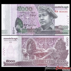 CAMBODGE - Billet de 5000 Riels - 2015 / 2017