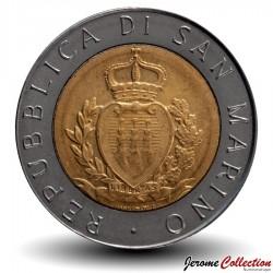 SAINT-MARIN - PIECE de 500 Lires - Reprise de la monnaie Saint-Marinaise - 1987