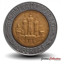 SAINT-MARIN - PIECE de 500 Lires - Albert Einstein - 1984