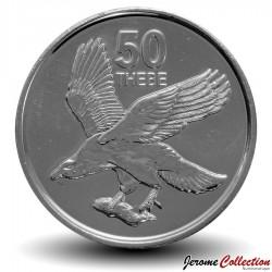 BOTSWANA - PIECE de 50 Thebe - Pygargue vocifer - 2013 Km#34