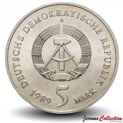 ALLEMAGNE DE L'EST / DDR / RDA - PIECE de 5 Marks - Marienkirche - 1989