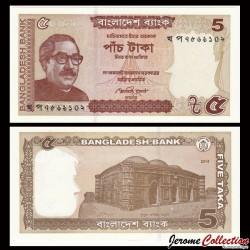 BANGLADESH - Billet de 5 Taka - 2014